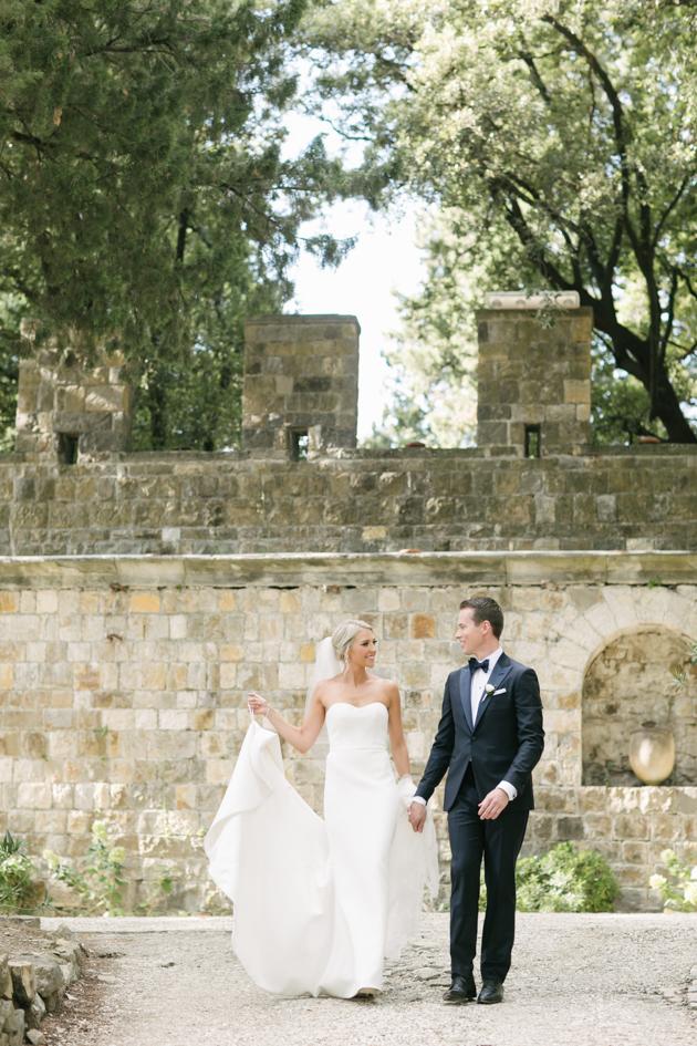Bride and groom portrait at the Castello di Vincigliata