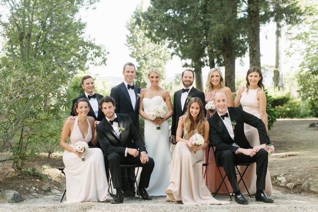 Wedding party at the Castello di Vincigliata