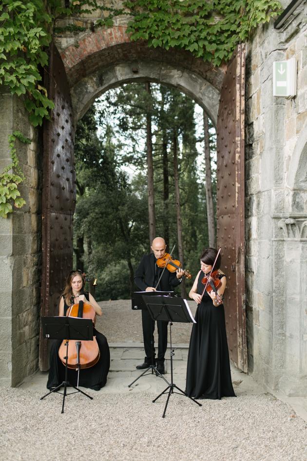 Three piece band at the Castello di Vincigliata