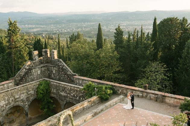 Wedding ceremony at Castello di Vincigliata
