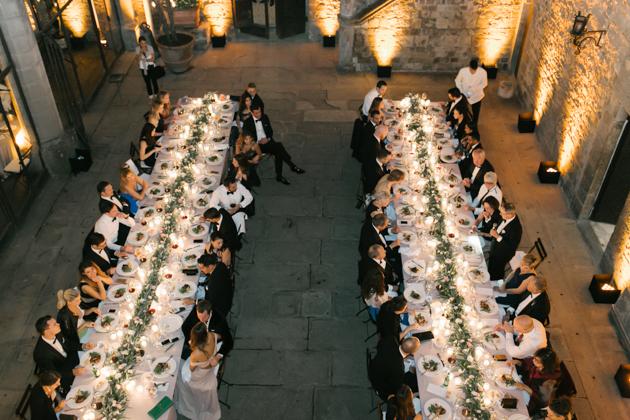Wedding reception at Castello di Vincigliata